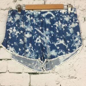 Pants - Blue star shorts